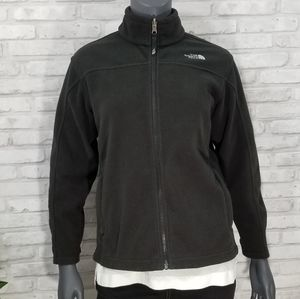 THE NORTH FACE black fleece zip up jacket 14/16